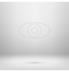 Icon in light studio room vector image