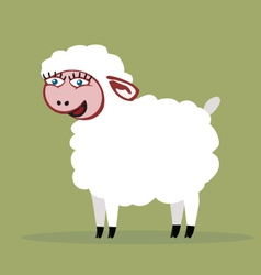 Sheep smiling color vector