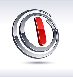 3d l letter icon vector