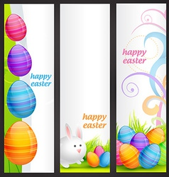Set of easter banner vector