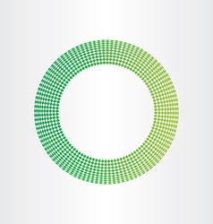 Abstract green circle background with squares vector