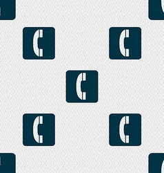 Handset icon sign seamless pattern with geometric vector