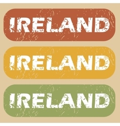 Vintage ireland stamp set vector