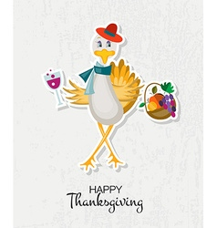 Happy thanksgiving day background with hipster vector
