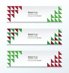 Triangle banner christmas styles vector