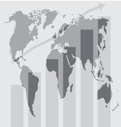 Global world development graphic vector image