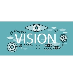 Business vision banner concept vector