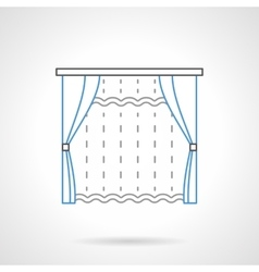 Textile blinds flat line icon vector