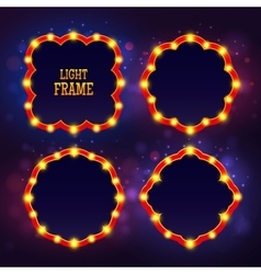 Retro frame light vector