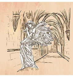 Angel - An hand drawn vector image vector image