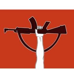 Armed revolution vector image