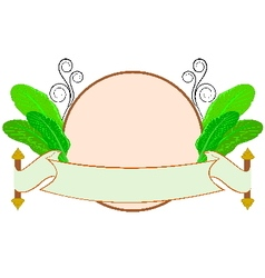 Banana leaf with thai style label vector