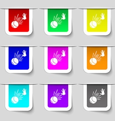 Basketball icon sign Set of multicolored modern vector image vector image