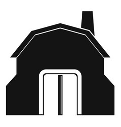 Blacksmith workshop building icon simple vector