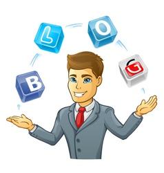 Business man juggling vector image vector image