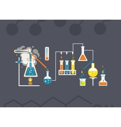 Chemistry infographics template vector