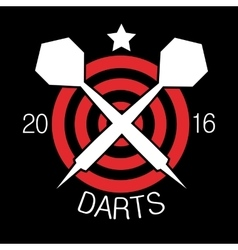 Darts label badge logo sporting symbols vector