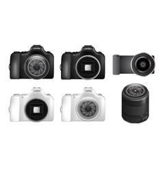 Dslr camera set vector