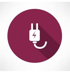electricity piug icon vector image