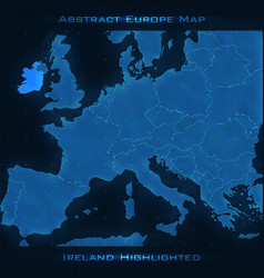 Europe abstract map ireland vector