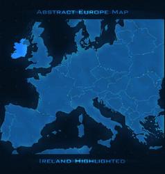 Europe abstract map ireland vector