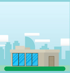 flat style modern architecture housebeautiful vector image