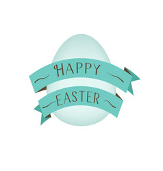 greeting card template for spring and easter with vector image vector image