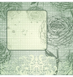 grungy background with handdrawn roses vector image vector image