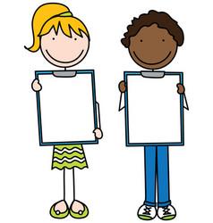 happy kids vector image vector image