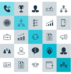 Human icons set collection of call goal vector