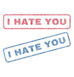 I hate you textile stamps vector