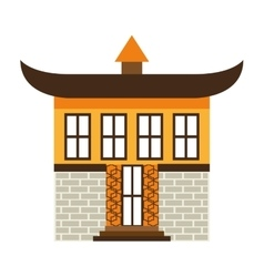 Japanese building isolated icon design vector