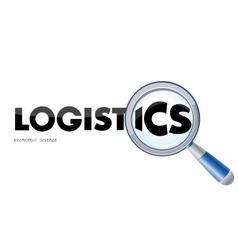 logistics logo vector image