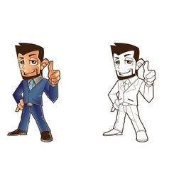 Mascot business design vector