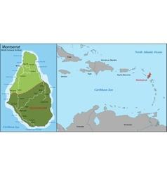 Montserrat map vector