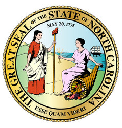 north carolina state great seal vector image