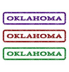 oklahoma watermark stamp vector image vector image