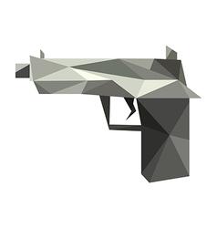 Origami gun vector