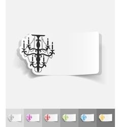 Realistic design element chandelier vector