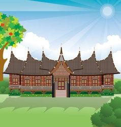 rumah gadang vector image vector image