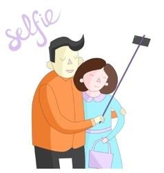 Selfie photo vector