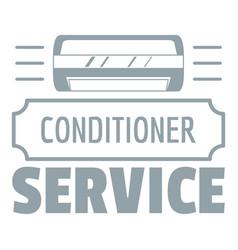 service conditioner logo simple gray style vector image