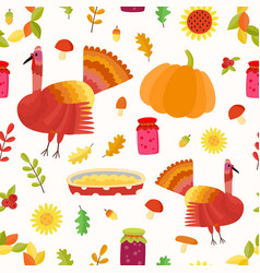 thanksgiving seamless pattern repeating vector image vector image