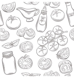 Tomato seamless pattern vector image