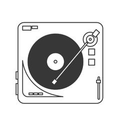 Vinyl record player icon vector