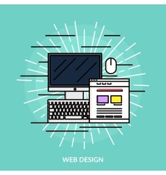 Web Design Line Icon vector image vector image
