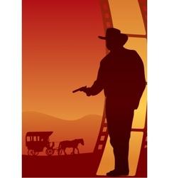 Western poster vector