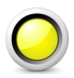 Yellow glossy icon vector image vector image