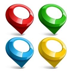 Shiny gloss Map pointer icon vector image
