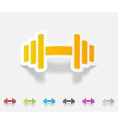 Realistic design element dumbbell vector